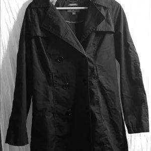 Mid length black coat
